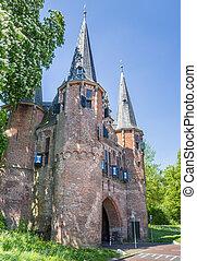Broederpoort in the historical city Kampen, Netherlands
