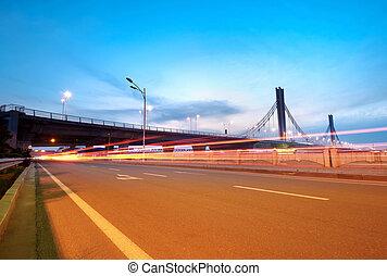 broer, og, lys trails