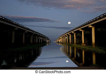 broer, tværs, den, flod