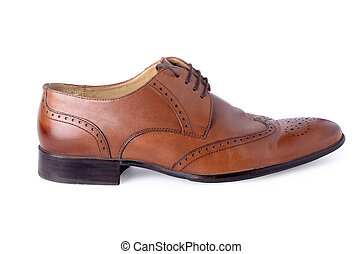 brogues shoes on a white background