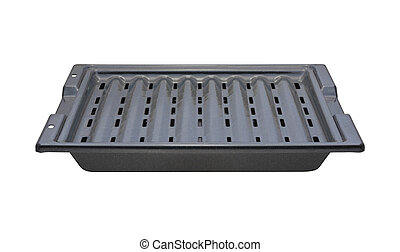 Broiling Pan isolated with a clipping path