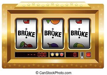Broke Slot Machine Gold