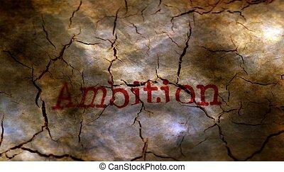 Broken ambition grunge concept
