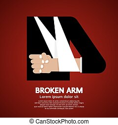 Broken Arm. - Broken Arm Vector Illustration.