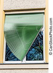broken blinds