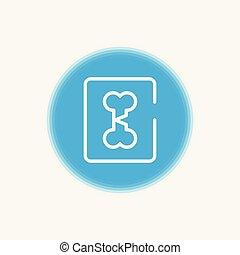 broken bone vector icon sign symbol