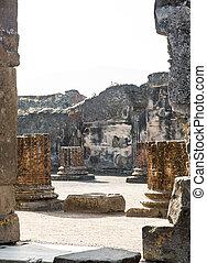 Broken Brick Columns in Pompeii