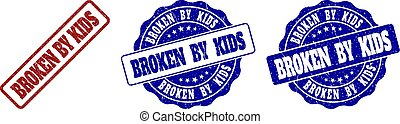 BROKEN BY KIDS Scratched Stamp Seals