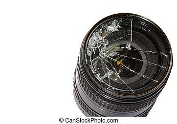 Broken camera lens