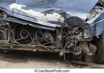 broken car. close-up