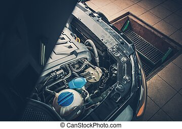 Broken Car in the Auto Service
