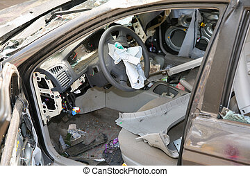 broken car