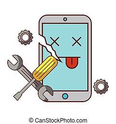 broken cellphone error support tools