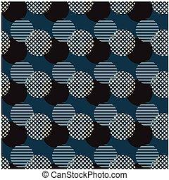 Broken chain circle seamless pattern