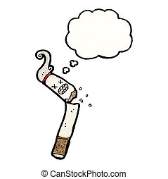 broken cigarette cartoon
