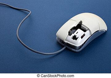 Broken computer mouse