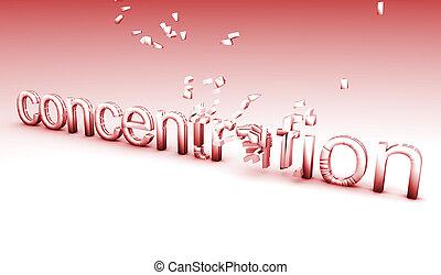 Broken Concentration Exploding Text as a Concept