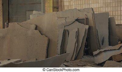 Broken concrete indoors abandoned plant