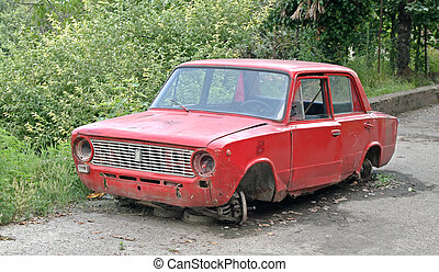 Broken-down car