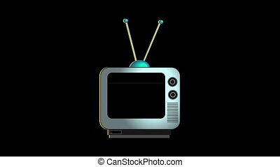 Broken Down Retro Television - An animation of a retro style...