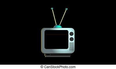 Broken Down Retro Television - An animation of a retro style...