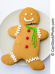 Broken Gingerbread cookie