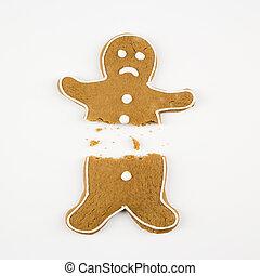 Broken gingerbread man.