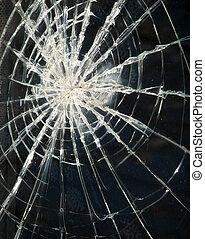 broken glass dark background pattern