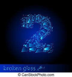 Broken glass - digit two