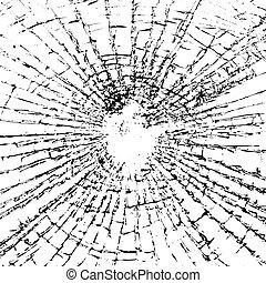 Broken glass grunge texture black white - Broken glass...