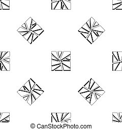 Broken glass pattern seamless black