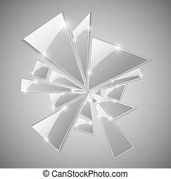 Broken glass - Triangular shards of the broken glass. Eps 10