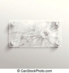 Broken glass, vector