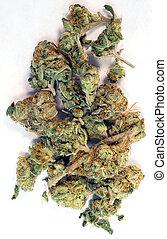 Broken Green Buds Marijuana Plant Flowers Cannibis Natural...