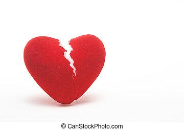 A closeup image of a broken heart.
