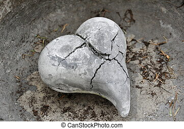 Broken Heart - A Stone Heart broken by Frost, Ice, Time and...