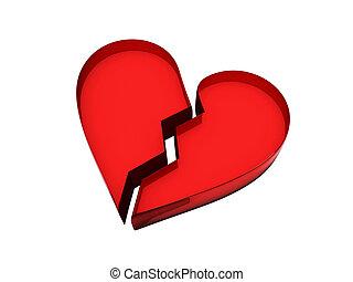broken heart - This is an illustration of a broken heart...