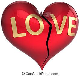 Broken heart. Divorce abstract