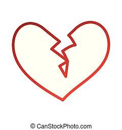 broken heart icon divorce end of love symbol