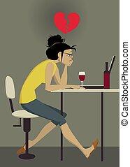 Broken heart over internet dating