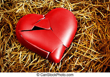 Broken Heart - Photo with a broken heart protected with...