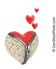 broken heart reborn - 3d concept