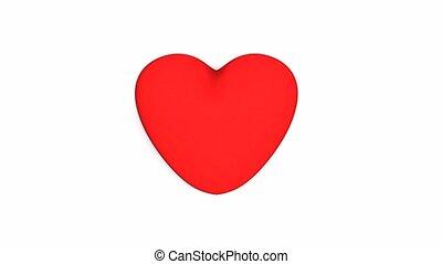 Broken heart - Heart broken into pieces animation.