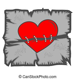 Broken heart, Vector illustration concept for love, union, and friendship.