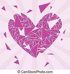 broken heart - violet broken valentine heart