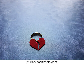 Broken heart wedding ring