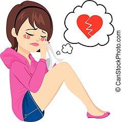 Broken Heart Woman Crying