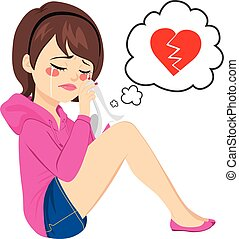 Broken Heart Woman Crying
