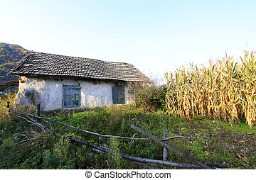 broken homes in rural areas, closeup of photo