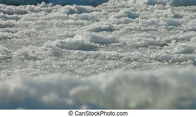 Broken Icy Surface